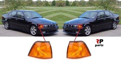 FOR BMW 3 E36 SEDAN KOMBI 90 - 00 FRONT FENDER INDICATOR LIGHT LAMP ORANGE PAIR