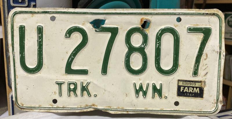 Hard To Get 1965,1966,1967 Washington Truck License Plate Single YOM Legal!