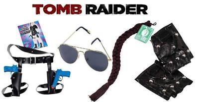 Twin Guns Thigh Holster-Lara Croft Style Tomb Raider Fancy Dress Accessories 4PC - Tomb Raider Costume Accessories