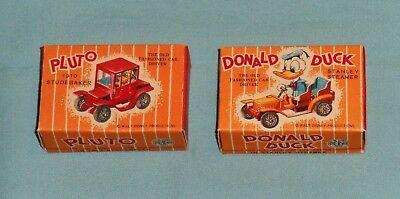 vintage Disney DONALD DUCK STANLEY STEAMER & PLUTO 1910 STUDEBAKER car in box