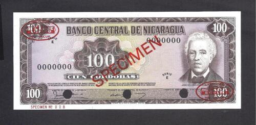 Nicaragua p-132 , UNC, 100 Cordobas, 1979 , SPECIMEN!!