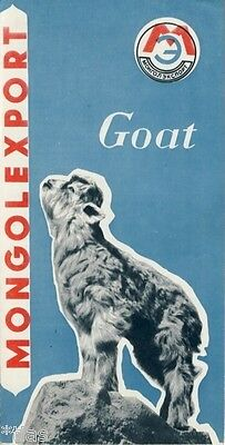 Mongolexport Prospekt Goat Cashmere Felle Wolle Mongolei um 1967