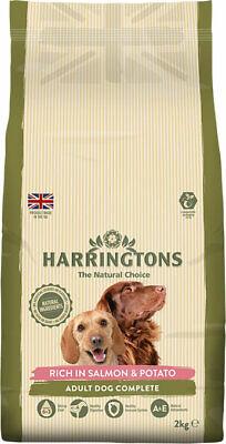 Harringtons salmon + potato 2kg complete dog food - natural ingrediants