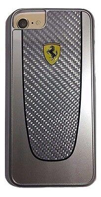 Ferrari PIT SHOP Fiber Hard Case for iPhone 7 (Silver)