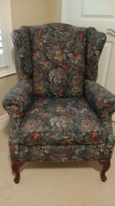 Classic Wing Chair in Italian Tapestry