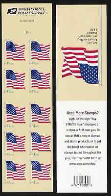 4190 4190a BC238 American Flag Convertible Booklet of 10 Unfolded Mint NH
