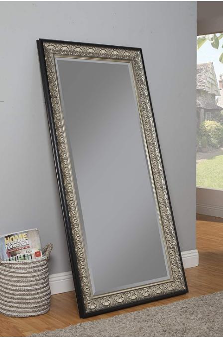 large full length floor mirror antique silver