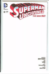 Superman Unchained issue #6 blank variant, DC comics