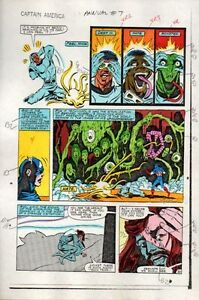 1983-Captain-America-Annual-7-page-30-Marvel-Comics-original-color-guide-art