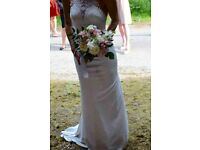 Gorgeous High Neck Wedding Dress with Lace (Meghan Markle)