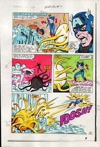 Rare-1983-Captain-America-Annual-7-page-31-Marvel-Comics-color-guide-art-1980s