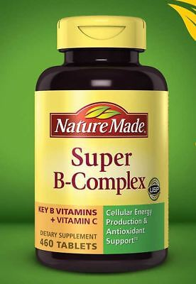 Nature Made Super B-Complex With Vitamin C Dietary Supplement, 460 Tablets