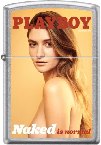 Zippo Playboy March 2017 Cover Street Chrome Windproof Lighter NEW RARE