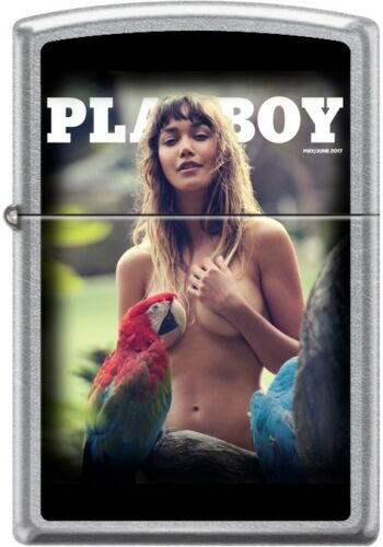 Zippo Playboy May 2017 Cover Street Chrome Windproof Lighter NEW RARE