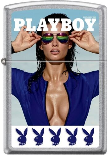 Zippo Playboy July 2017 Cover Street Chrome Windproof Lighter NEW RARE
