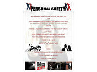 Personal Safety / Self Defense One Hour over Three Sundays starts 7th May