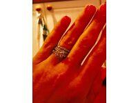 Platinum diamond engagement and wedding ring set