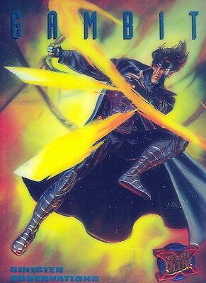 X-MEN 1995 FLEER ULTRA SINISTER OBSERVATIONS INSERT CARD 4 OF 10 GAMBIT MA