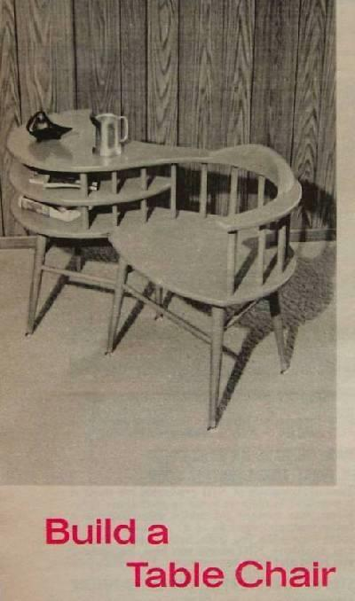 Captains Chair Table How-To build PLANS Simple Modern style