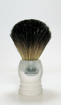 Hans Baier Badger Shaving Brush Acrylic Glass in Matt Frosted 0 25/32in Germany