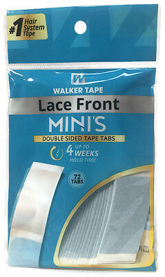 Lace Front Mini's Double Sided Tape Tabs WALKER - 72 Tabs - Lace Front Mini