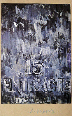 JASPER JOHNS Hand Signed Print 'Art of the Sixties' 1969