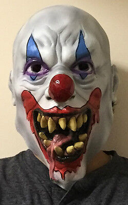 Psycho Clown Mask Wide Smile Tongue Out ICP Evil Adult Creepy Halloween Costume](Halloween Psycho Mask)