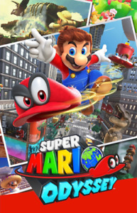 New In Box SUPER MARIO ODYSSEY Game For NINTENDO SWITCH