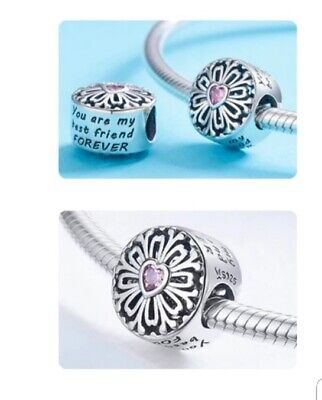 Best Friend Authentic 925 sterling silver charm fit all kind of Bracelet Jewelry
