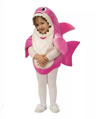 Childrens Halloween Song (Mommy Shark Halloween Costume 3T 4T Toddler Pink Child Rubies Song Sound)
