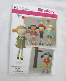 Simplicity pattern K1900 - Viola Studio 40 pieces for doll and clothes