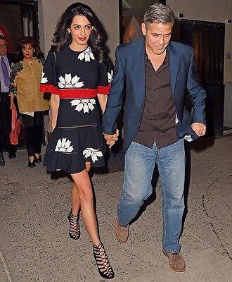 NWT Alexander McQueen Amal Clooney Floral Knit Runway Jacquard Dress Sz 42 L 8