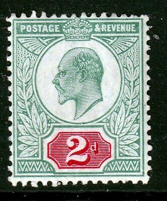 SG227 2d Pale Grey Green & Carmine Red M/MINT(403)