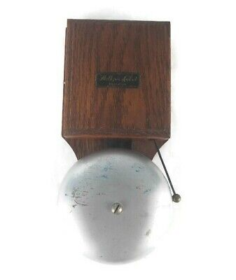 """/""""THE HOLTZER-CABOT ELECTRIC CO./"""" CAST IRON BELL-GONG  type PS vintage bell"""