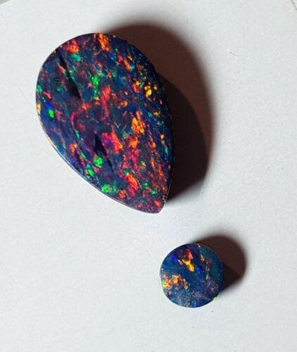 Doublet Opal Stone 2 Stone Drop & Round Shape Parcel Australian stone