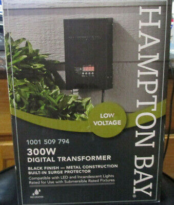 Hampton Bay Landscape Transformer Lighting 300 Watt Low Voltage Timer Outdoor