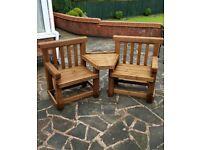 Rustic garden love seat
