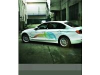 Car decal sticker front and both sides colourful smoke design