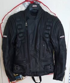 Akito leather motorbike jacket brand new with tags