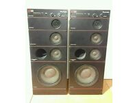 Rare wharfedale cd90 3 way speakers large