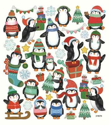 Scrapbooking Crafts Stickers SK Christmas Penguins Trees Presents Snowflakes Hat ()