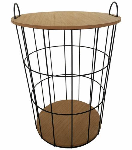 Hudson 43 Storage Basket with Wooden Lid