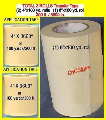 8 4 4 Rolls Application Transfer Paper Tape For Vinyl Cutter Plotter