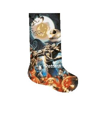 The Nightmare Before Christmas Christmas Stocking #1. Cross Stitch Kit.  ()