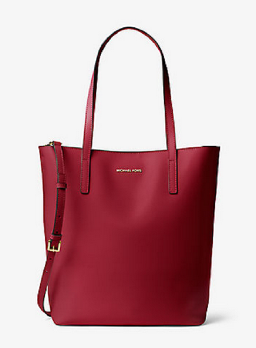 Michael Kors Emry Large Red Leather Tote Bag