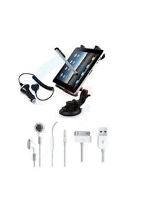 iPad 1/2/3 CAR MOUNT HOLDER ACCESSORY KIT & CHARGER High Quality Accessries