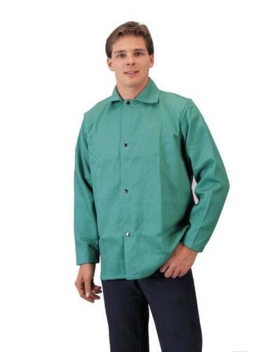 "Tillman 6230 36"" 9 oz. Green FR Cotton Welding Jacket, Size 2XL"