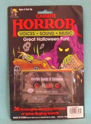Horror Cassette Voices Sound Music 30 Minutes of Spine Tingling Sounds - NEW!