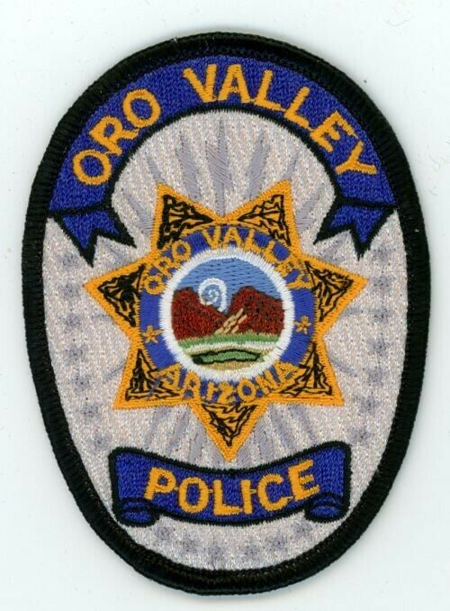 ORO VALLEY POLICE ARIZONA AZ COLORFUL PATCH 3 1/2 INCHES TALL SHERIFF