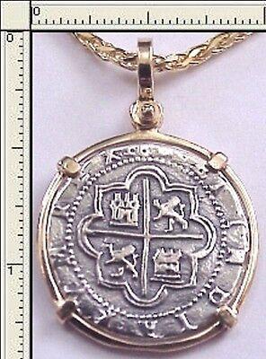 Rare Beautiful Replica 2 Reale Cob Piece Of Eight Atocha 1622 Shipwreck Pendant